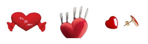 Presentes dia dos namorados em forma de coração