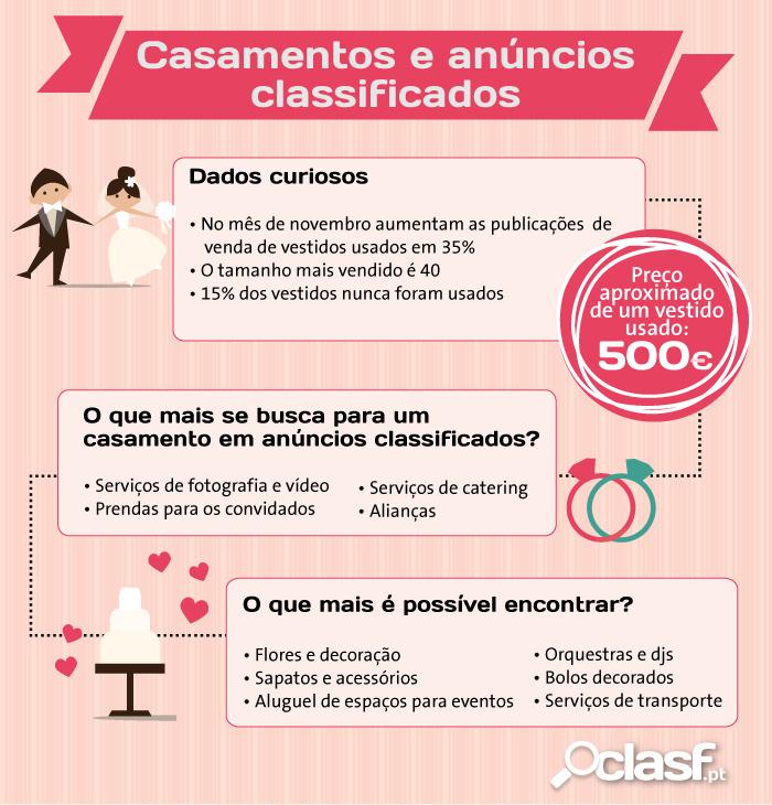 Infografia casamentos e anúncios classsificados