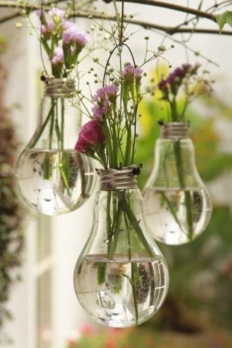 Decoração Primavera Vaso de Flores Reciclado